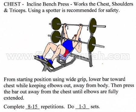 Bench press incline BODYFIT BD-011